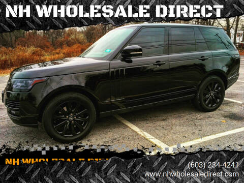 2015 Land Rover Range Rover for sale at NH WHOLESALE DIRECT in Derry NH