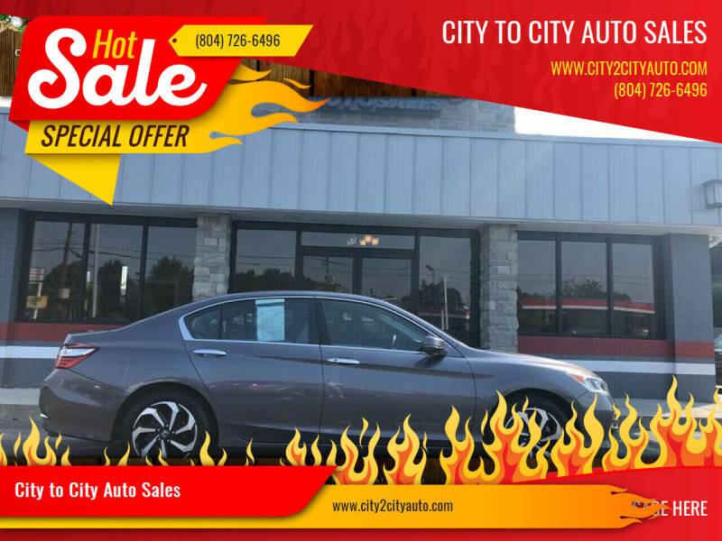 2016 Honda Accord for sale at City to City Auto Sales - Raceway in Richmond VA