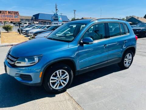 2017 Volkswagen Tiguan for sale at Sunset Motors in Manteca CA