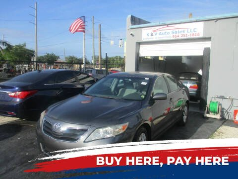 2011 Toyota Camry for sale at K & V AUTO SALES LLC in Hollywood FL