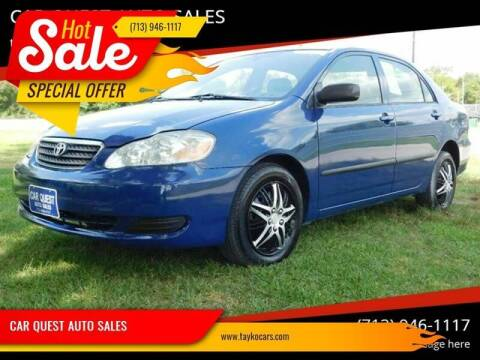 2008 Toyota Corolla for sale at CAR QUEST AUTO SALES in Houston TX