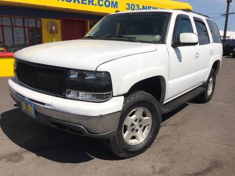 2005 Chevrolet Tahoe for sale at New Wave Auto Brokers & Sales in Denver CO