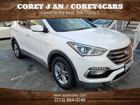 2017 Hyundai Santa Fe Sport for sale at WWW.COREY4CARS.COM / COREY J AN in Los Angeles CA
