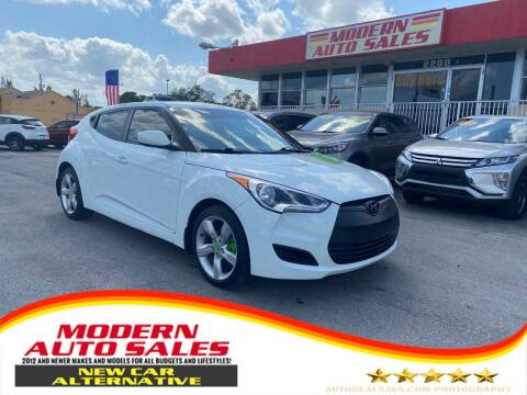 2013 Hyundai Veloster for sale at Modern Auto Sales in Hollywood FL