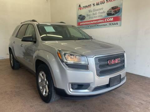 2014 GMC Acadia for sale at Antonio's Auto Sales - Antonio`s  3001 in Pasadena TX