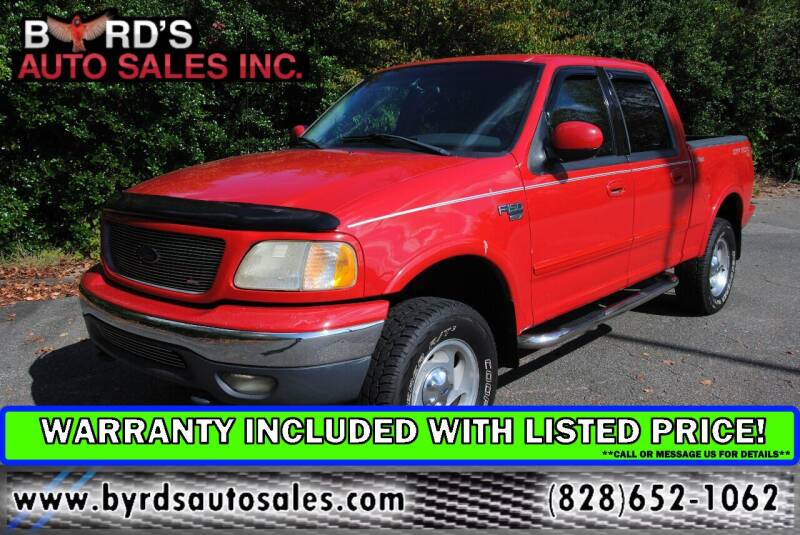2001 Ford F-150 for sale at Byrds Auto Sales in Marion NC