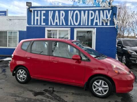 2007 Honda Fit for sale at The Kar Kompany Inc. in Denver CO