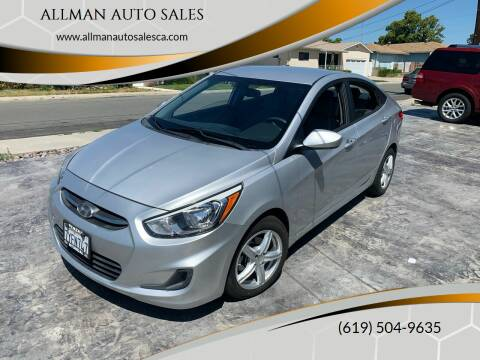 2016 Hyundai Accent for sale at ALLMAN AUTO SALES in San Diego CA