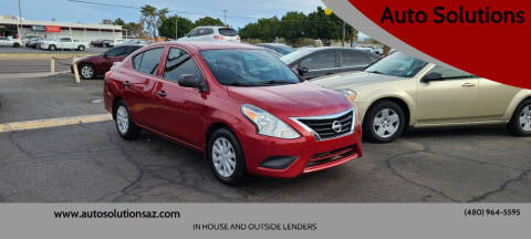 2015 Nissan Versa for sale at Auto Solutions in Mesa AZ