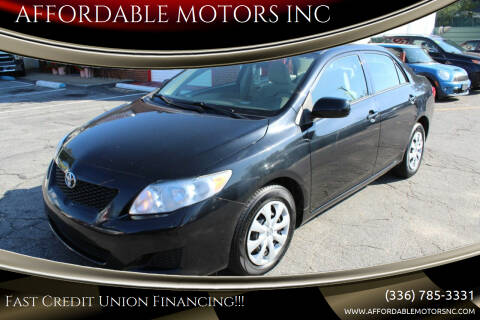 2010 Toyota Corolla for sale at AFFORDABLE MOTORS INC in Winston Salem NC