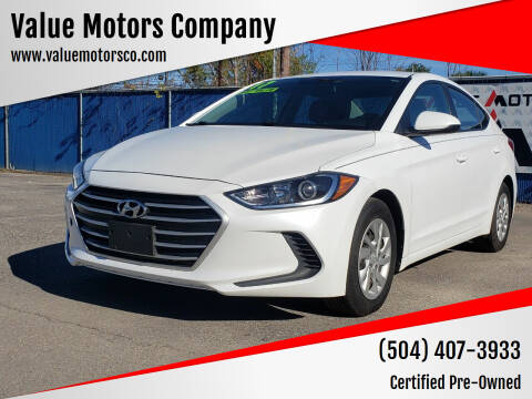 2017 Hyundai Elantra for sale at Value Motors Company in Marrero LA
