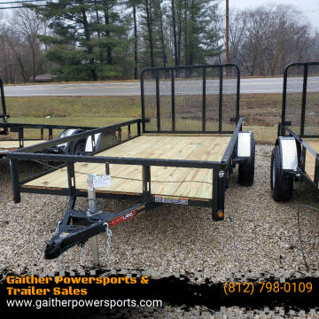 """2021 Heartland Utility 12'x76"""" with gate for sale at Gaither Powersports & Trailer Sales in Linton IN"""