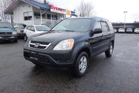 2004 Honda CR-V for sale at Leavitt Auto Sales and Used Car City in Everett WA