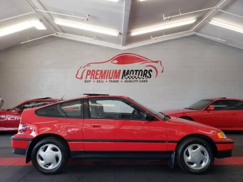 1991 Honda Civic CRX for sale at Premium Motors in Villa Park IL