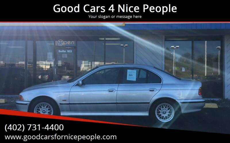 2000 BMW 5 Series for sale at Good Cars 4 Nice People in Omaha NE