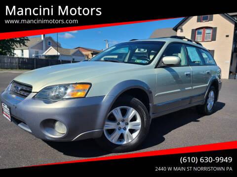 2005 Subaru Outback for sale at Mancini Motors in Norristown PA