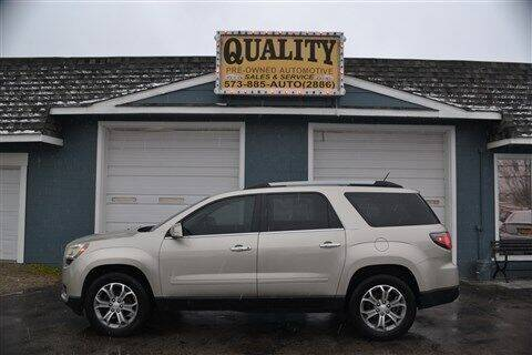 2014 GMC Acadia for sale at Quality Pre-Owned Automotive in Cuba MO