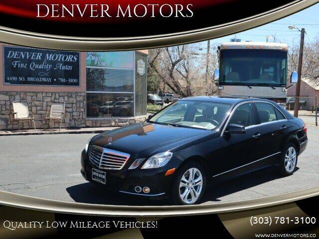 2011 Mercedes-Benz E-Class for sale at DENVER MOTORS in Englewood CO
