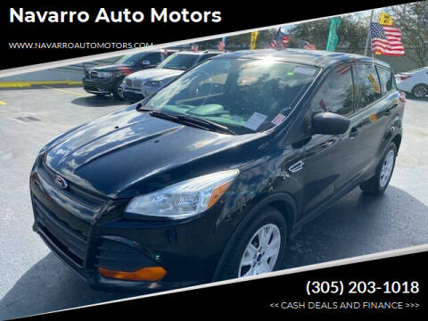 2016 Ford Escape for sale at Navarro Auto Motors in Hialeah FL