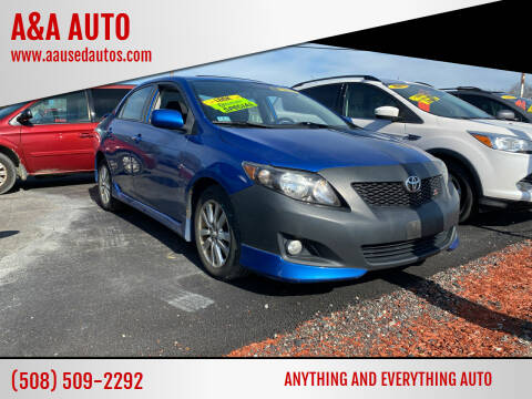 2009 Toyota Corolla for sale at A&A AUTO in Fairhaven MA