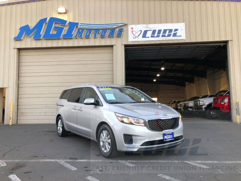 2016 Kia Sedona for sale at MGI Motors in Sacramento CA