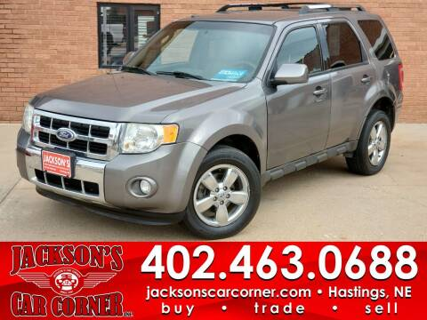 2010 Ford Escape for sale at Jacksons Car Corner Inc in Hastings NE