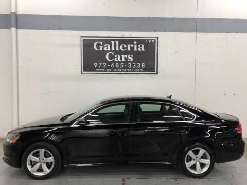 2015 Volkswagen Passat for sale at Galleria Cars in Dallas TX