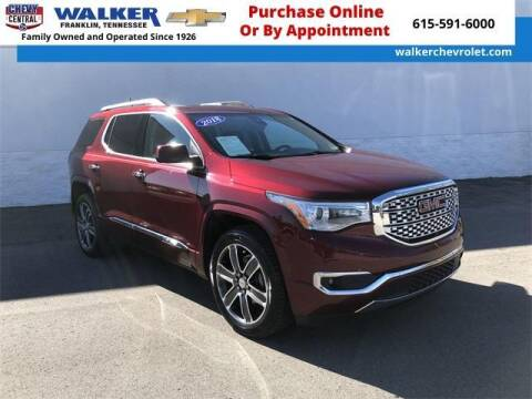 2018 GMC Acadia for sale at WALKER CHEVROLET in Franklin TN