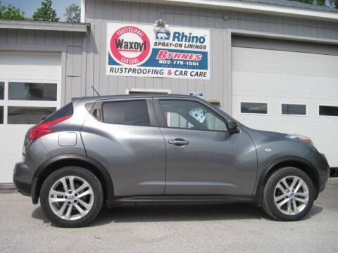 2011 Nissan JUKE for sale at BYRNES RUST PROOFING CENTER AND AUTO SALES in N.Clarendon VT