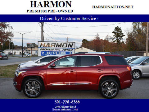 2019 GMC Acadia for sale at Harmon Premium Pre-Owned in Benton AR