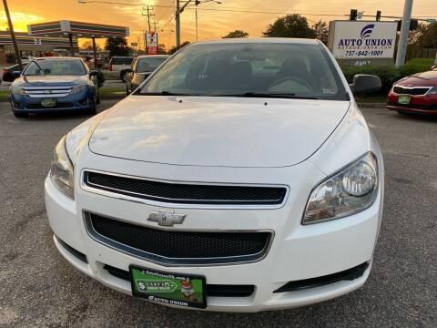 2012 Chevrolet Malibu for sale at Auto Union LLC in Virginia Beach VA