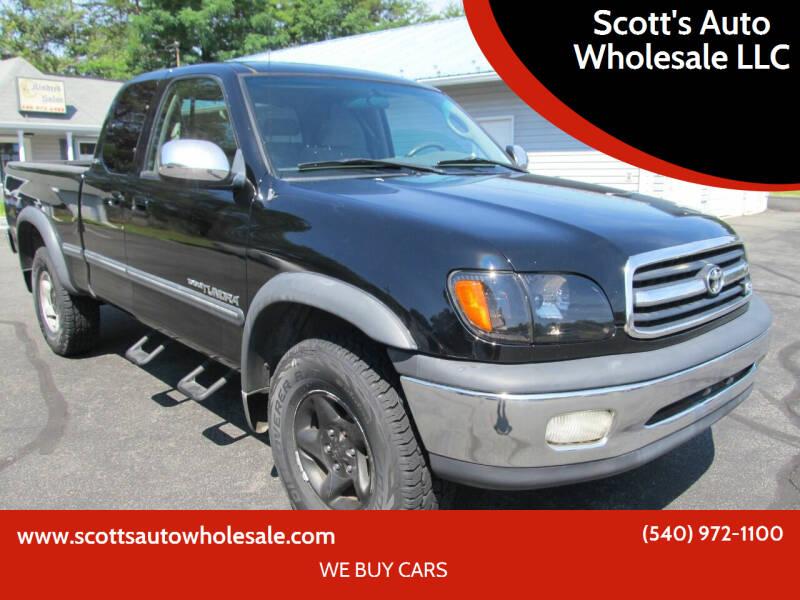 2002 Toyota Tundra for sale at Scott's Auto Wholesale LLC in Locust Grove VA