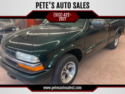 2003 Chevrolet S-10 for sale at PETE'S AUTO SALES LLC - Middletown in Middletown OH