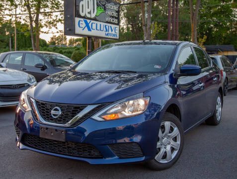 2016 Nissan Sentra for sale at EXCLUSIVE MOTORS in Virginia Beach VA
