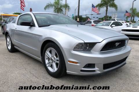 2014 Ford Mustang for sale at AUTO CLUB OF MIAMI in Miami FL