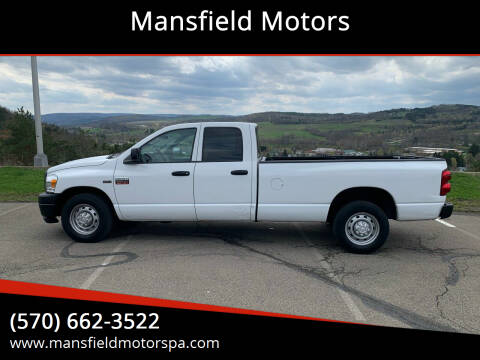 2008 Dodge Ram Pickup 2500 for sale at Mansfield Motors in Mansfield PA