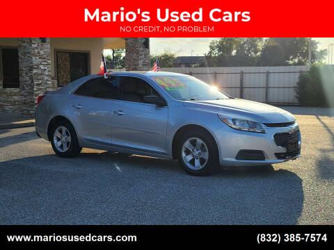 2015 Chevrolet Malibu for sale at Mario's Used Cars - Pasadena Location in Pasadena TX