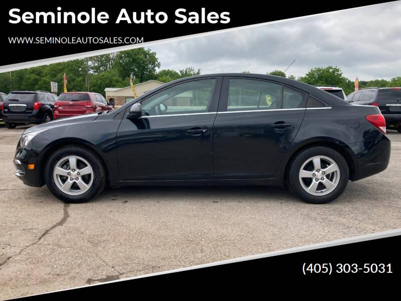 2016 Chevrolet Cruze Limited for sale at Seminole Auto Sales in Seminole OK