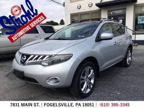 2010 Nissan Murano for sale at Strohl Automotive Services in Fogelsville PA