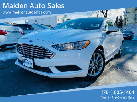 2017 Ford Fusion Hybrid for sale at Malden Auto Sales in Malden MA