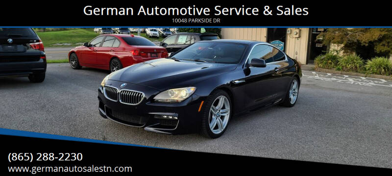 2012 BMW 6 Series for sale at German Automotive Service & Sales in Knoxville TN