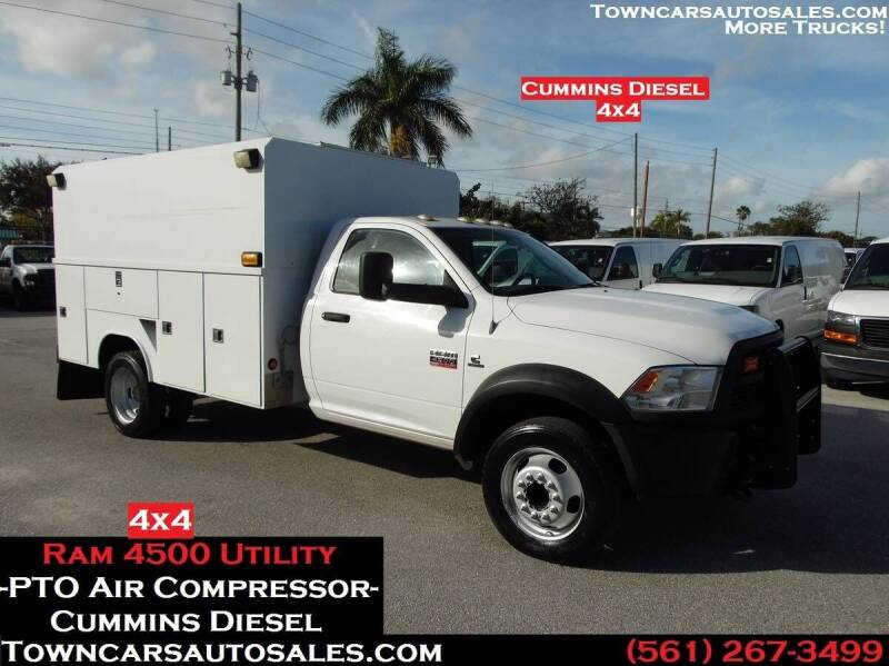 2012 Dodge Ram Chassis 4500 for sale at Town Cars Auto Sales in West Palm Beach FL