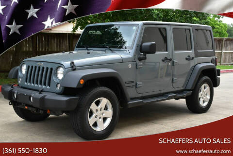 2014 Jeep Wrangler Unlimited for sale at Schaefers Auto Sales in Victoria TX