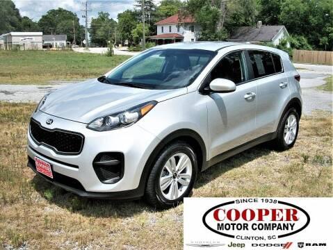 2018 Kia Sportage for sale at Cooper Motor Company in Clinton SC