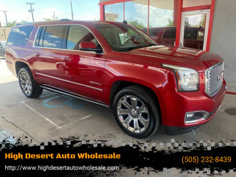 2015 GMC Yukon XL for sale at High Desert Auto Wholesale in Albuquerque NM