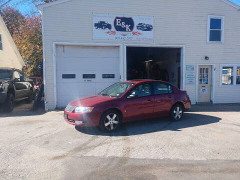 2007 Saturn Ion for sale at E & K Automotive in Derry NH