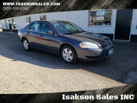 2008 Chevrolet Impala for sale at Isakson Sales INC in Waite Park MN