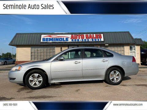 2013 Chevrolet Impala for sale at Seminole Auto Sales in Seminole OK
