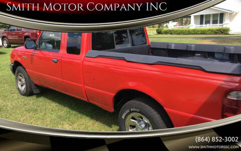 2001 Ford Ranger for sale at Smith Motor Company INC in Mc Cormick SC