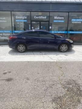 2014 Hyundai Elantra for sale at Georgia Certified Motors in Stockbridge GA